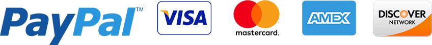 paypal visa mastercard amex discover